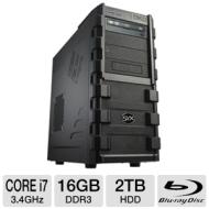 Systemax SYX SG-130 Gaming PC - INTEL CORE i7 2600k 3.4 GHz, Genuine Windows 7 Professional 64 Bit, DUAL - 1GB RADEON HD6770 GFX, 16GB DDR3, 2TB 7200r