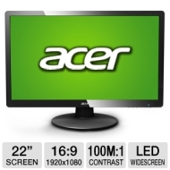 "Acer S220HQLAbd 21.5"" LED LCD Monitor - 16:9 - 5 ms"