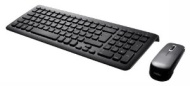 Perixx PERIDUO-710B UK, Wireless Keyboard and Mouse Set - Compact 389x142x25mm Dimension - Piano Black - 2.4G - Up to 10 Meters Operating Range - Chic