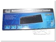 Adesso Multimedia Keyboard and Optical Trackball AKB-320UB