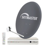 SKYMASTER - Impianto Satellitare Digitale - Antenna 60cm - Antracite