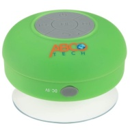 Abco Tech Water Resistant Wireless Bluetooth Shower Speaker with Suction Cup and Hands-Free Speakerphone, Green
