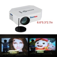 Excelvan LED LCD Portable Mini Multimedia Projector Multi-media 150 Lumens Hd Portable 1080p LED Projection Micro Projector