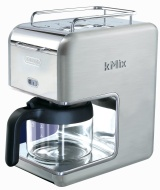 DeLonghi Kmix 5-Cup Drip Coffee Maker, Stainless Steel