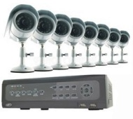 Svat Electronics Do-it-Yourself DVR Security System with 8 Indoor/Outdoor Night Vision CCD Cams