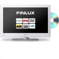 22 Inch DVD Combi LED TV from Finlux, Silver, Full HD, Freeview, USB PVR, 2x HDMI (22f6030s-d)
