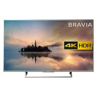 """Sony Bravia 49XE7073 LED HDR 4K Ultra HD Smart TV, 49"""" with Freeview HD & Cable Management, Silver"""
