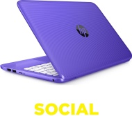 "HP Stream 11-y051sa 11.6"" Laptop, 1 TB Portable Hard Drive & Sleeve Bundle - Purple"