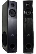 VM Audio SRAT10 Black Floorstanding Powered Home Bluetooth Tower Speakers (Pair)