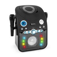 auna StarMaker Karaokeanlage Kinder Karaoke Audiosystem Karaoke Maschine 2x Mikrofon (Bluetooth-Funktion, AUX-Eingang, Multicolor LED-Lichteffekt, Top