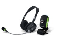 Chat Pack USB Webcam and Stereo Headset for VoIP Communication (Black/Green)