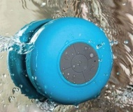 Mini Ultra Portable Waterproof Bluetooth Wireless Stereo Speakers with Suction Cup for Showers Bathroom, (BLUE)