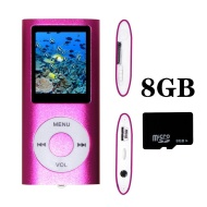 Tom America INC Pink Portable MP4 Player MP3 Player Video Player with Photo Viewer , E-Book Reader , Voice Recorder + 8 GB Micro SD Card