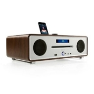 Ruark Audio R4 CD, DAB/FM Radio with integrated iPod Dock - Walnut finish