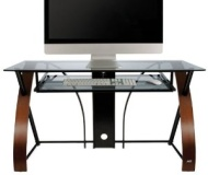Bello - Home Av Bell'O Computer Desk - Rectangle - 47 x 24 x 30 - Wood, Steel, Glass