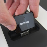 BrightPlay - 30 Pin Bluetooth Audio Receiver/ Adapter for Iphone's and Ipod's - Turn your ordinary iPhone/Ipod docking station into a wireless bluetoo