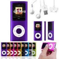 8gb Slim 1.8 LCD Mp3/Mp4 Music Video FM Radio Media Player Purple