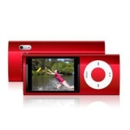 ®Gadget Bay© -MP4 & MP3 Player Nano Style Scroll 5TH Gen, FM Radio -8GB, (A choice of 8 colours from the drop down menu) Red