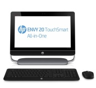 HP ENVY 20-d030xt TouchSmart All-in-One Desktop with 3rd Gen. IntelCore i3-3220 - 3.3 GHz Shared Cache; 4GB DDR3 SODIMM RAM - 1 DIMM; 1TB 7200 rpm SAT
