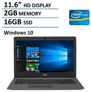 2016 NEW Edition Acer Aspire One 11 Cloudbook 11.6-inch Laptop, Intel Dual-Core Processor, 2GB RAM, 16GB SSD, 100GB OneDrive Cloud Storage 2 years, Bl