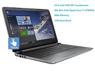 "Newest HP Pavilion 15.6"" Flagship Laptop, 6th Gen Skylake Intel i7-6700HQ Quad-Core Processor(6M Cache, up to 3.5 GHz), FHD IPS Touchscreen, 8GB DDR3,"
