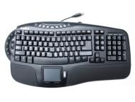 Perixx Periboard-507 Ergonomic multimedia keyboard with touchpad mouse USB