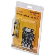 Delock 3 x USB3.0 ext + 1x int, PCIe Low Profile, 89281 (Low Profile)