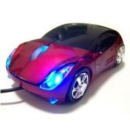 Ferrari Car Shaped Optical USB Mouse Red