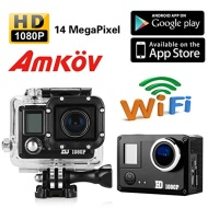 AMKOV Sport Camera DVR Waterproof 14MP Full HD 1080P WiFi Video Recorder Helmet Cam AMK5000 DV