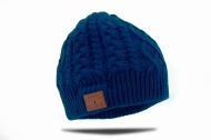 Tenergy Wireless Bluetooth Hands-Free Beanie Braid Cable Knit, Color Tame Teal