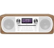 PURE Evoke C-D6 DAB+/FM Bluetooth Clock Radio - Walnut