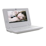 "White 7"" Mini Android 4.1 Netbook Laptop Notebook with Camera Wifi Via8850 4gb"