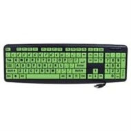 Klear Keys XL 104-Key USB Large Print Glow-in-the-Dark Keyboard