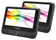 """""""Sylvania - 9"""" Dual-Screen Portable Dvd Player - Black"""""""