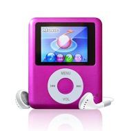 Lonve 8GB Pink MP4/MP3 Player 1.8'' Screen (3TH Gen) MP4 Music/Audio/Media Player with FM Radio