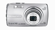 Olympus Stylus 740 7.1MP Digital Camera with Digital Image Stabilized 5x Optical Zoom (Silver)