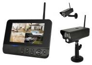 COMAG Digitales Kamera Funk-Überwachungs-Set (inkl. 7 Zoll TFT Monitor + 4 Stk. Kameras, kabellos, Nachtsicht (Infrarotkamera), erweiterbar bis zu 4 K