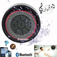Expower(R) IPX7 Waterproof Shockproof Wireless Bluetooth Stereo Speaker for Outdoor Exercise and Shower (Black+Red)