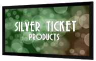 """Silver Ticket HDTV 16:9 120"""" Fixed Frame Projector Screen"""
