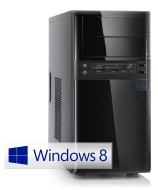 Silent multimedia PC! CSL Sprint 5766uW8P (Quad) incl. Windows 8 Pro - computer-system with AMD A8-6600K APU 4x 3900 MHz, 1000GB SATA, 8GB DDR3 RAM, A