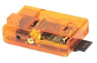 SB Custodia protettiva (trasparente arancione) per Raspberry Pi Computer