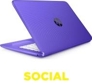"HP Stream 14-ax053sa 14"" Laptop - Purple"