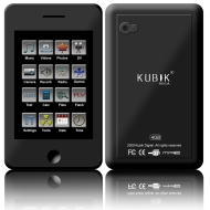 "Kubik Roca 4GB 2.8"" Touch Screen MP3 & Video Player with Built-in 3.0 MP Camera & YouTube Player"