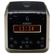 ROBERTS SOUND 38 DAB/FM/CD Clock Radio, Black/Silver