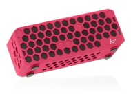 Kitsound Hive Bluetooth Wireless Portable Stereo Speaker for iPod/iPhone/iPad/Android/Windows Devices - Pink