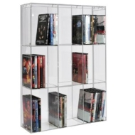 SORA Acrylic DVD Rack with transparent back-panel