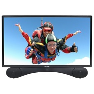 "Linsar X24DVDMK2 LED Full HD 1080p TV/DVD Combi, 24"" with Freeview HD, Black"