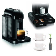 Nespresso GCA1-US-BK-NE VertuoLine Coffee and Espresso Maker, Black