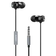 AUKEY Auricolare Stereo con Microfono, Prestazione Eccellente in Bassi e Alti con Riduzione di Rumore, con Cavo di 1,2M, Uso Universale per Smartphone