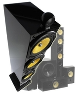 Crystal Acoustics THX-3D12 5.1 Home Theater Speaker System, Piano Black